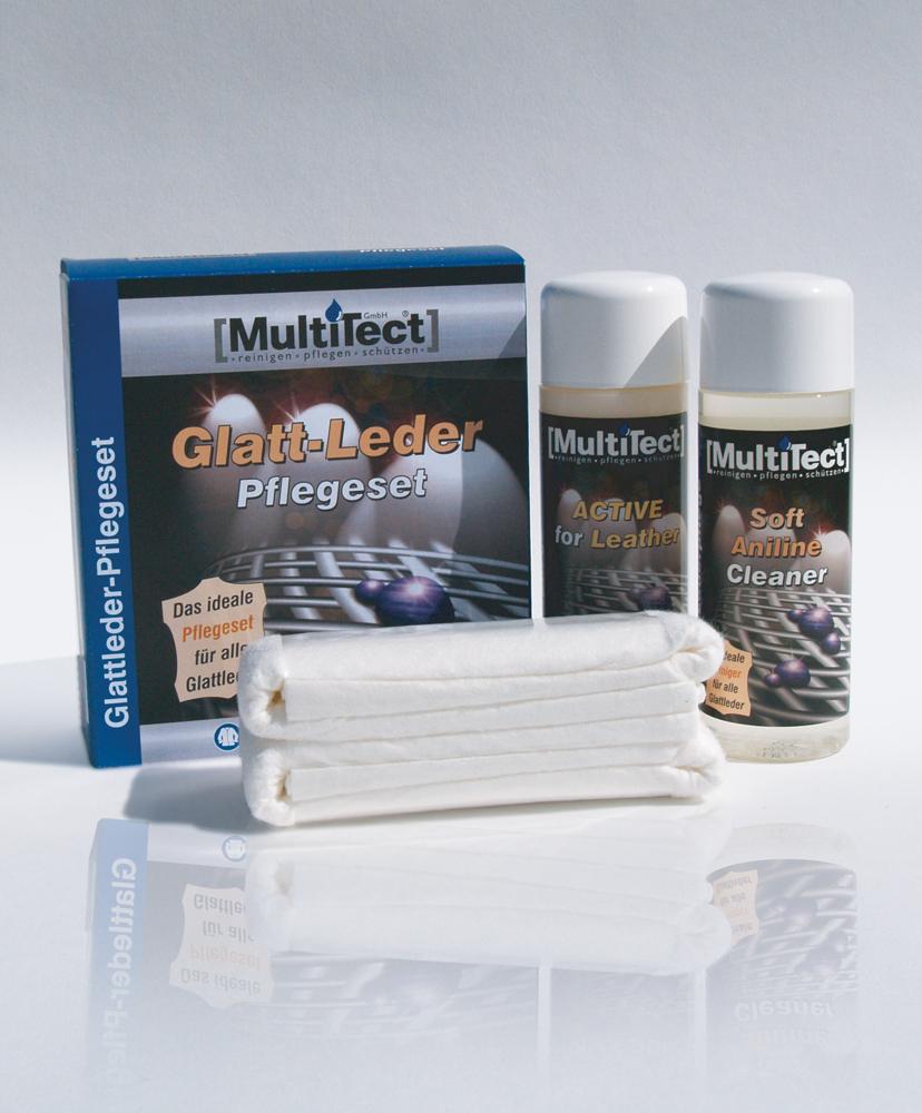 multitect glattlederpflege set f r die perfekte pflege und reinigung. Black Bedroom Furniture Sets. Home Design Ideas